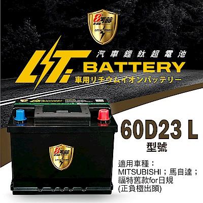 日本KOTSURU-8馬赫鋰鈦汽車啟動電瓶 60D23 L / 50Ah