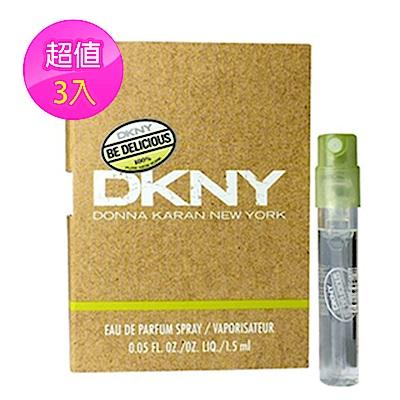 *DKNY Be Delicious 青蘋果女性淡香精 1.5ML噴式針管(3入)