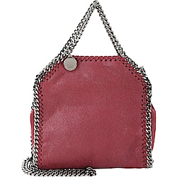 Stella McCartney Falabella Tiny 鍊帶兩用包(紅梨色)