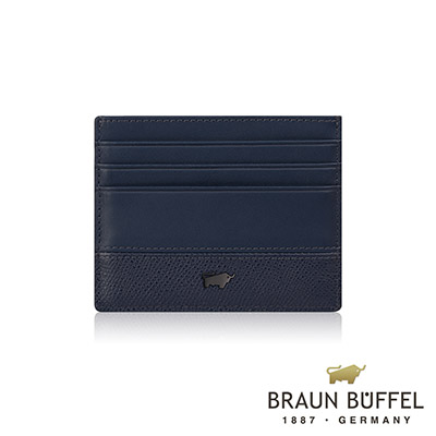 BRAUN BUFFEL - 邦尼系列7卡單層卡夾 - 深海藍