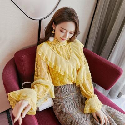 設計所在Lady-內搭衫加厚法式宮廷風蕾絲衫(S-XL可選)