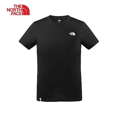 The North Face北面男款黑色吸濕排汗短袖T恤|3VRCJK3
