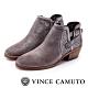 VINCE CAMUTO 西部感編織金屬扣中跟踝靴-金屬鐵色 product thumbnail 1