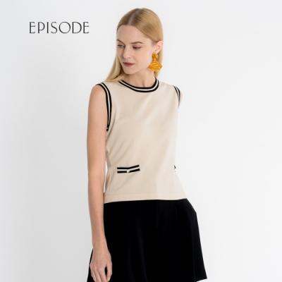 EPISODE - 優雅小香風滾邊針織背心上衣
