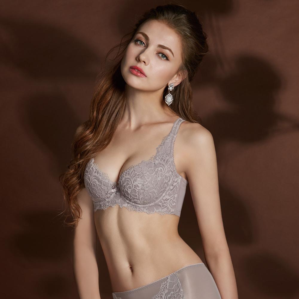 曼黛瑪璉 Hibra大波內衣  C-D罩杯(低調紫)