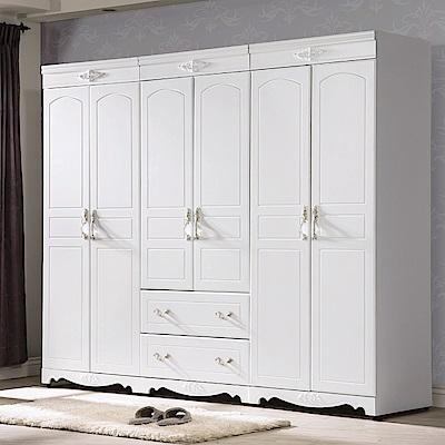 AS-西莉亞歐風2.7尺二抽衣櫥-80*58*200cm