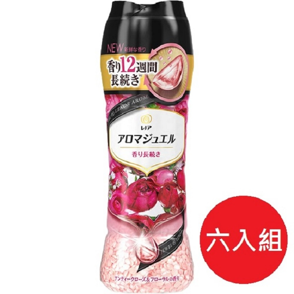 日本【P&G】2021最新版 幸福寶石衣物 香香豆470ml 紅薔薇香*6瓶