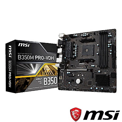 MSI微星 B350M PRO-VDH 主機板
