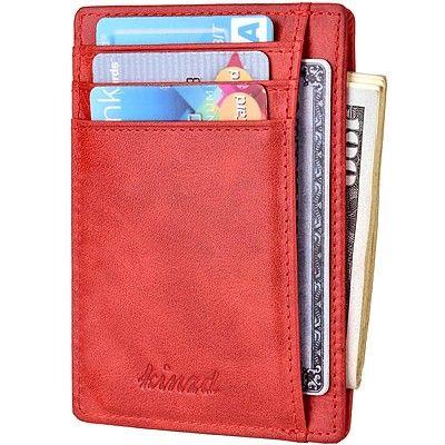 《Kinzd》防盜證件卡夾(胭紅色)