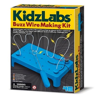 4M KidzLabs電流急急棒Buzz Wire Making Kit 00-03232科學探索電路設計教具《榮獲英國倫敦科學博物館推薦》