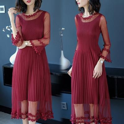 【KEITH-WILL】(預購) 時尚宴會壓褶洋裝-1色