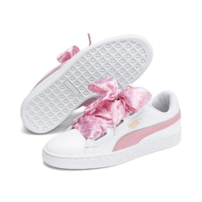PUMA-Basket Heart Reinvent 女性復古籃球運動鞋-白色