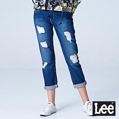 Lee 401中腰合身小直筒牛仔褲-中?色洗水