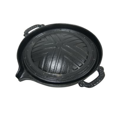 不沾鍋雙耳竹節面鐵烤盤