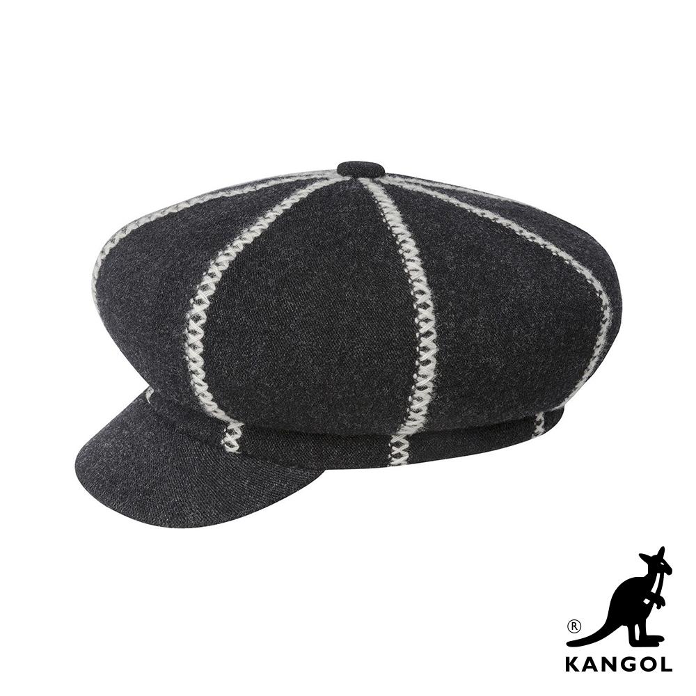 KANGOL-波士頓報童帽-黑灰色