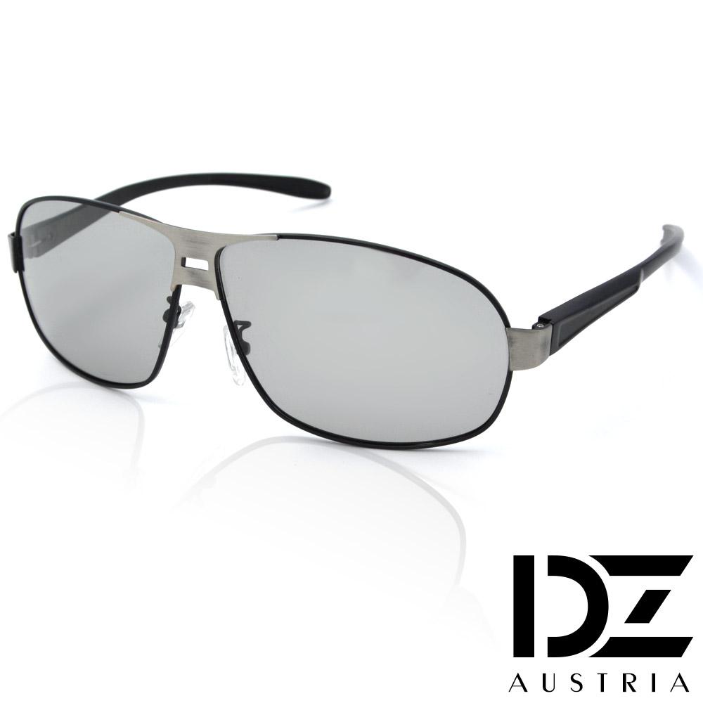 【2件59折】DZ 悍將個性變色片 抗UV 偏光 太陽眼鏡墨鏡(黑框)
