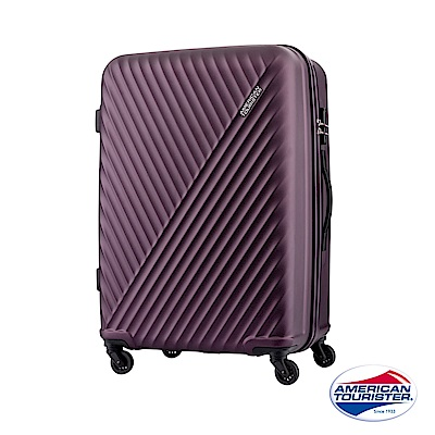 AT美國旅行者 24吋Visby線條防刮硬殼TSA行李箱(紫)