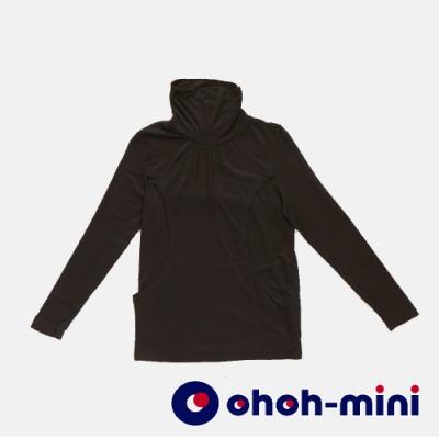 【ohoh-mini 哺乳裝】百搭舒適柔膚高領哺乳上衣