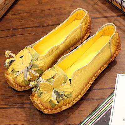 KEITH-WILL時尚鞋館 民族風編花造型真皮鞋-黃色