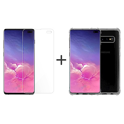 Metal-Slim Samsung Galaxy S10+ 防摔殼+防爆膜組合