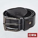 EDWIN 1961烙印皮帶-黑色