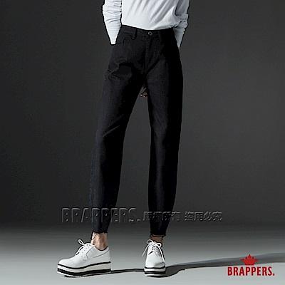BRAPPERS 女款 Boy friend系列-中高腰蘿蔔九分褲-黑