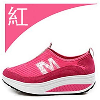 韓國KW美鞋館 馬卡龍M字母網面健走鞋-紅