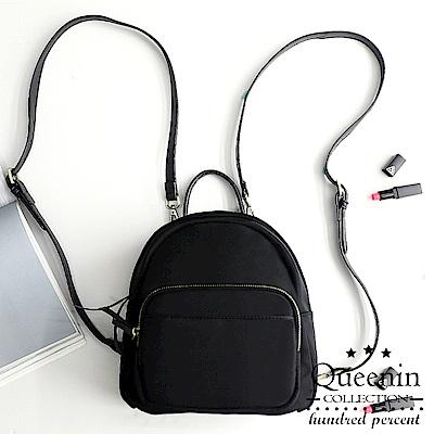 DF Queenin日韓 - 大正和風柔素典雅空氣系兩用後背包-共3色