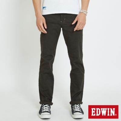 EDWIN EDGE LINE 迷彩緹織 中直筒休閒褲-男款 墨綠