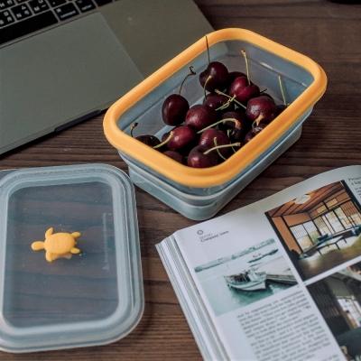 仁舟淨塑 矽密盒長方形900ml-黃矽龜(快)