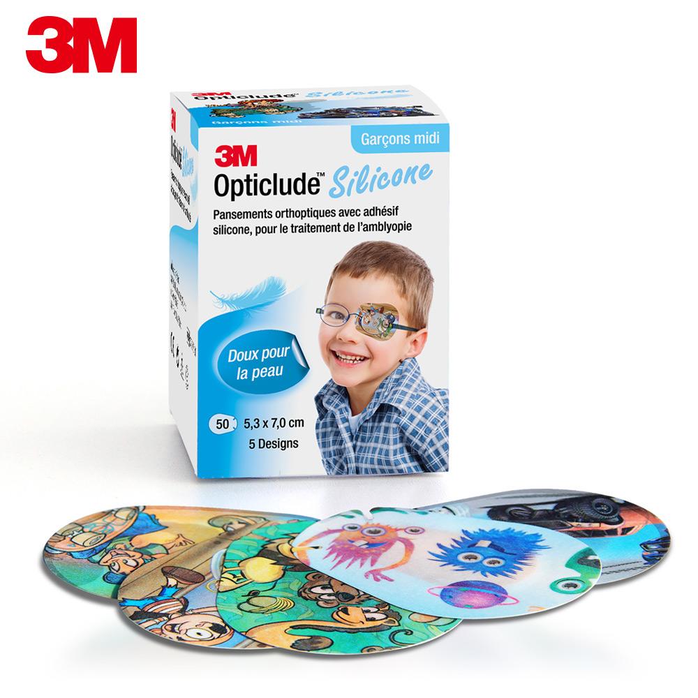 3M 矽膠護眼貼設計款(男孩/中尺寸)50片/盒