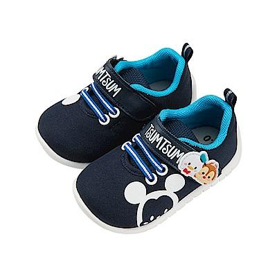 迪士尼童鞋 TsumTsum 米奇家族 魔鬼氈布鞋-藍