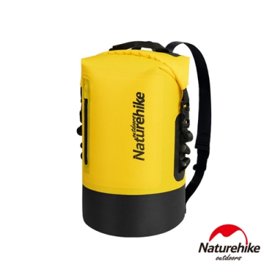 Naturehike C031一字拉鍊TPU乾濕分離防水後背包 防水袋 收納袋20L 黃色