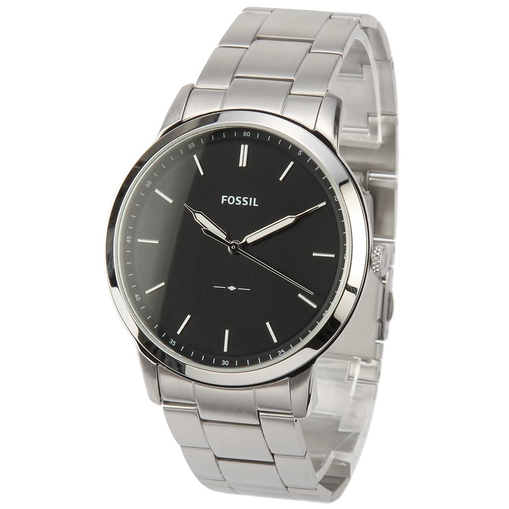 FOSSIL Minimalist 極簡主義不鏽鋼腕錶-(FS5307)-44mm