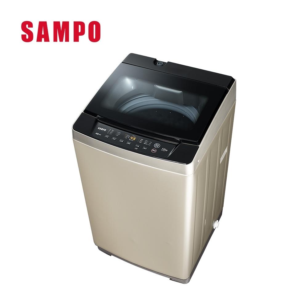 SAMPO聲寶 10公斤 窄身變頻單槽直立式洗衣機 ES-K10DF 香檳金