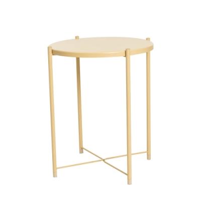 樂嫚妮 北歐質感多用途托盤茶几桌/咖啡邊桌-黃