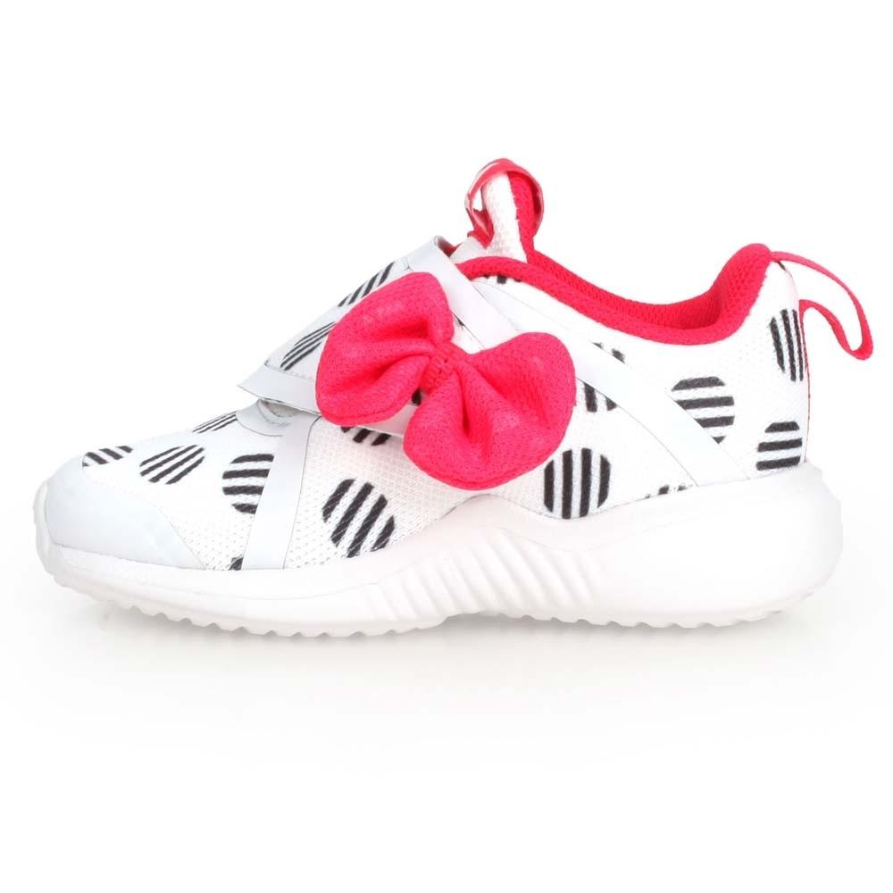 ADIDAS FORTARUN X MINNIE 女小童慢跑鞋 白黑紅