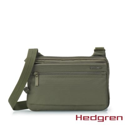 【Hedgren】INNER CITY貼身收納 側背包-橄欖綠