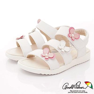 雨傘牌 氣質珍珠專櫃涼鞋款 EI93850白(中小童段)