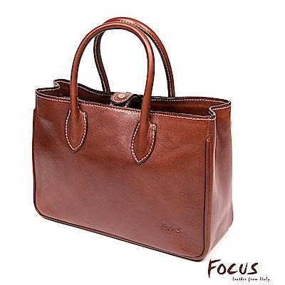 FOCUS經典原皮方型時尚手提包-小(FTE7020)