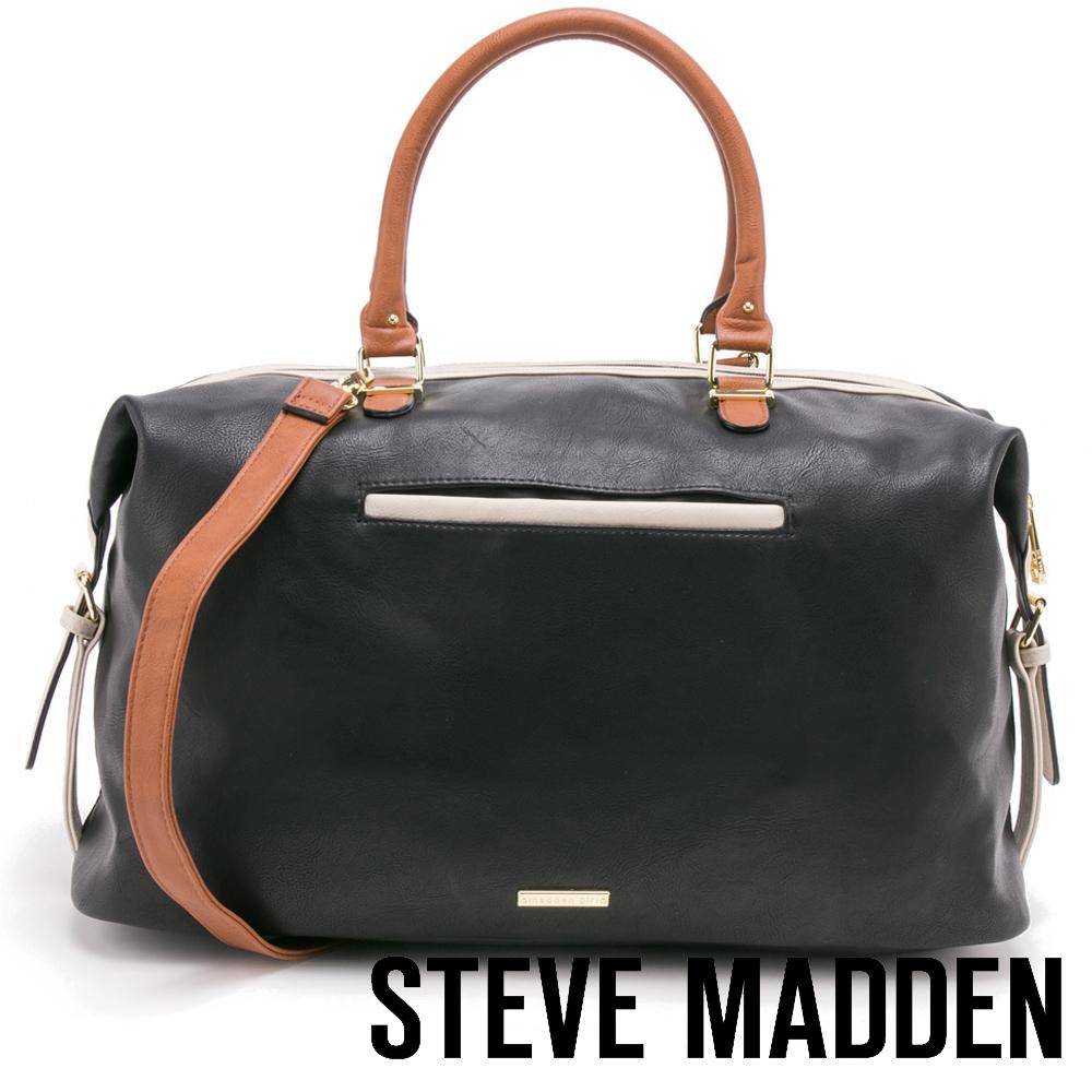 STEVE MADDEN-MGGLAMM-小週末旅行包-黑色