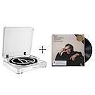 鐵三角AT-LP60白色 唱盤+巴哈《郭德堡變奏曲》/顧爾德(1981年錄音)唱片 合購組