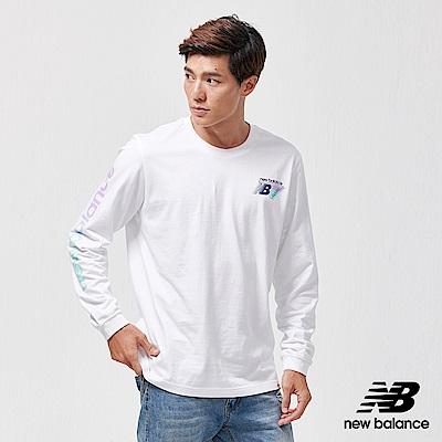 New Balance 長袖T恤_AMT91545WT_男性_白色