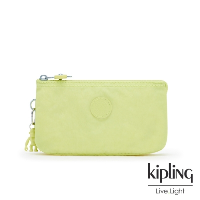 Kipling 清新奶油果綠三夾層配件包-CREATIVITY L