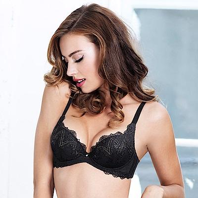 黛安芬-逆齡Bra系列 B-E罩杯內衣 星鑽黑