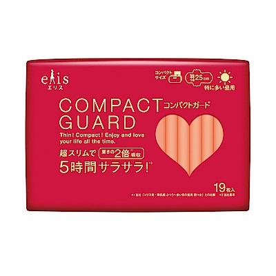 日本大王elis愛麗思COMPACT GUARD GO可愛日用超薄衛生棉 25cm (19片/包)