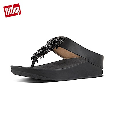 FitFlop RUMBA TOE-THONG SANDALS黑