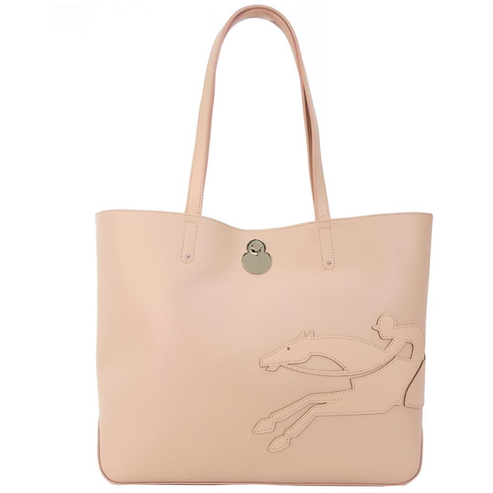 Longchamp SHOP-IT系列肩背包-大/粉色LONGCHAMP