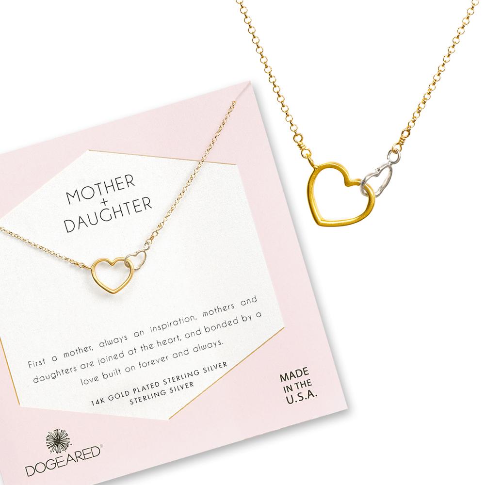 Dogeared 美國品牌 母女之心 金銀雙心 金色許願項鍊