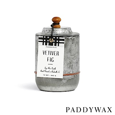 PADDYWAX 美國香氛 Homestead系列 香根草無花果 復古工業風錫罐 340g